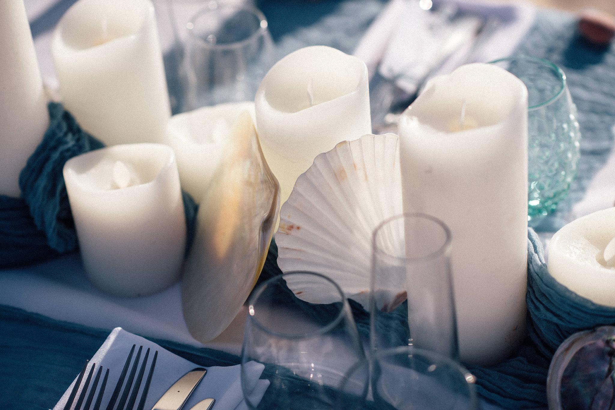 LED Candles, Large shells,