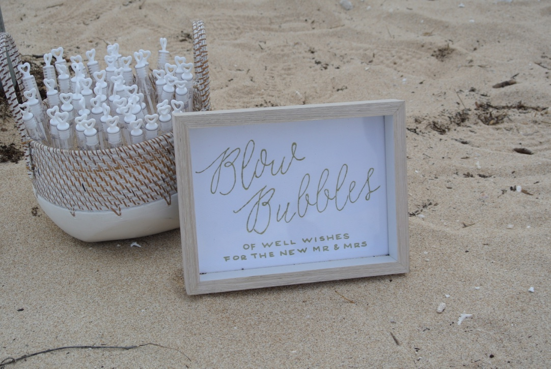 Small BAsket & Customised Sign