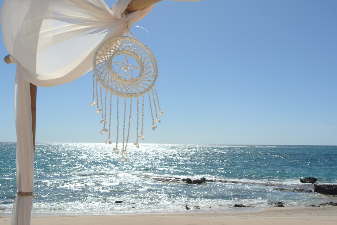 Bamboo Structure, Styled with Shell Dream Catcher,