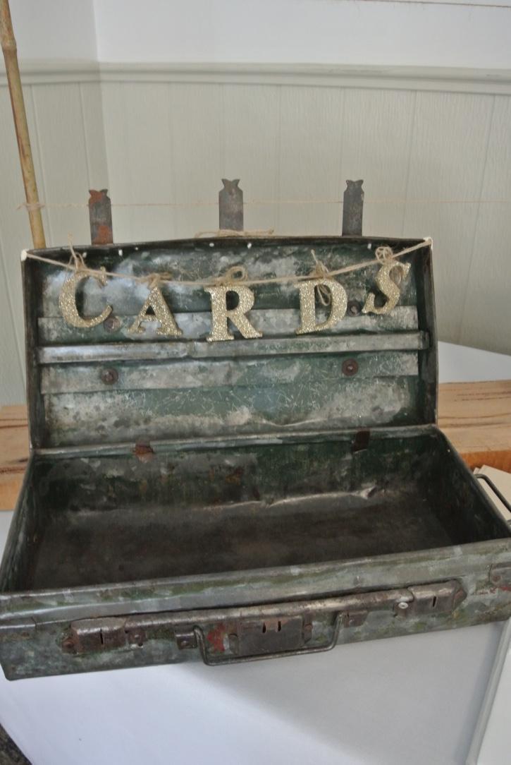Vintage Suitcase & Cards Sign