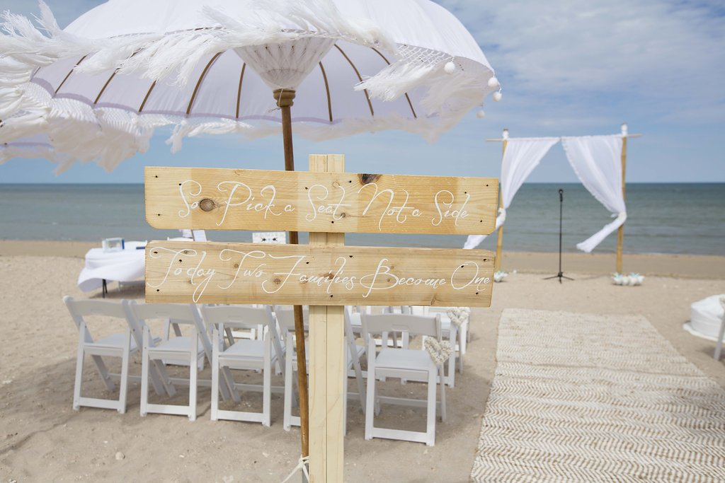 Take a Seat Sign, Bohemein Umbrellas, Bamboo Structure, Rugs