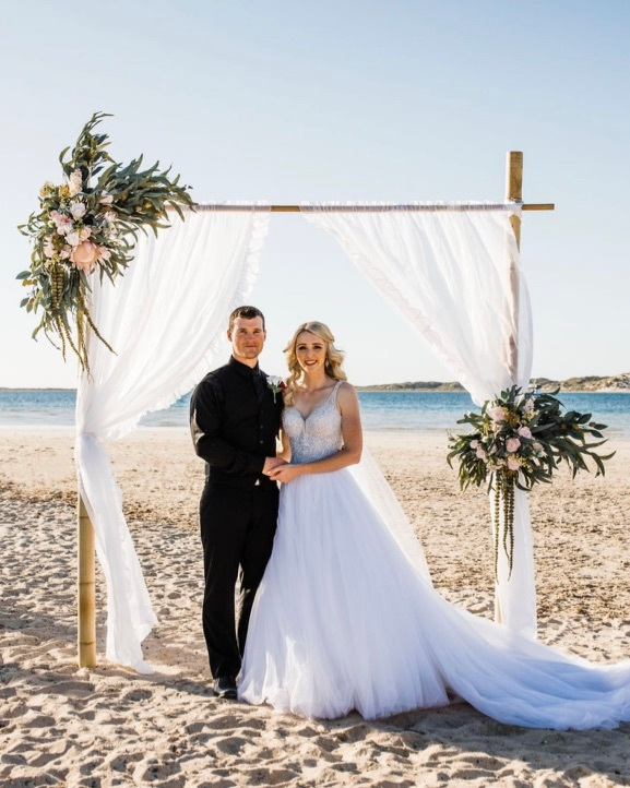 - We can't thank Jess enough for the beautiful set up she created for our Coral Bay beach ceremony. Salt & Sand Event Hire made our day extra special and were amazing through all the planning, emailing and phone chats leading up to the day. Jess was always available for any questions and gave advice which was so very helpful and appreciated! Highly recommend! 💗 Tommy & Nicole xx