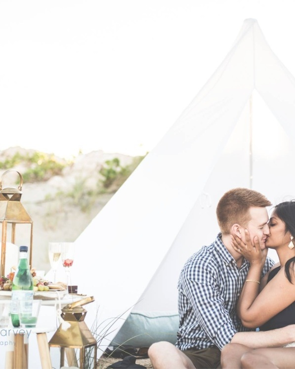 - Thank You so much for setting everything up Jess! It was so beautiful - took my breath awayDermott & Chalani (Proposal)Dermott surprised Chalani with this romantic teepee date complete with bohemian cushions, flowers and a delectable grazing platter, but not only was this a surprise to her to have him arrange such a gorgeous pre-dinner gesture, shortly after they arrived he declared his love and commitment to her, got down on one knee and ask her to marry him.