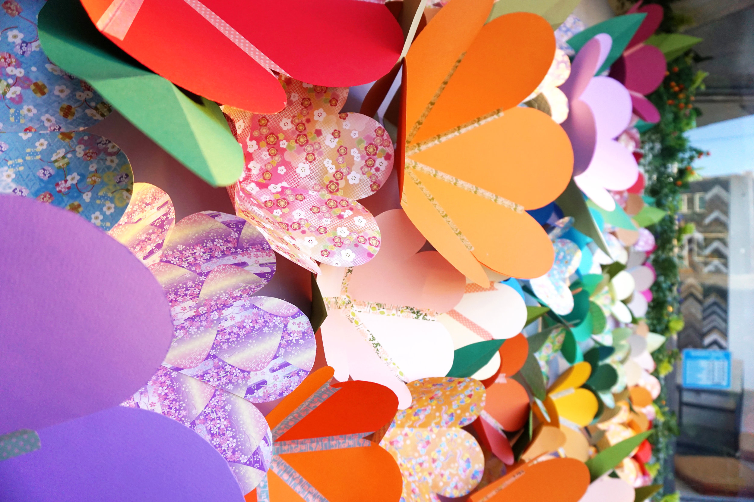 Handmade Paper Flowers with Washi Tape