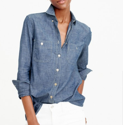 A chambray shirt is so versatile