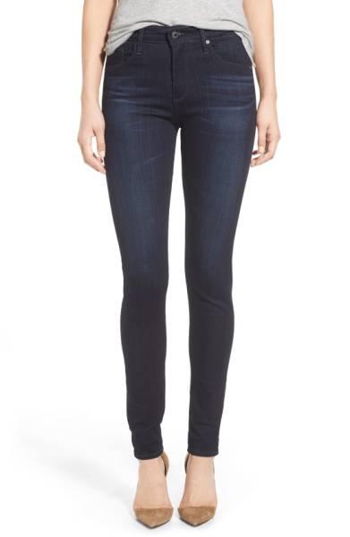 My favorite jeans in dark blue and black (AG Farrah High Waist).