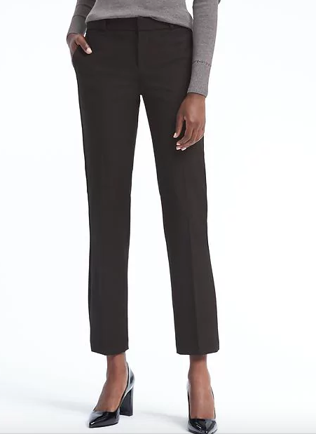 I'm in love with ankle pants right now. I have these in navy and black.