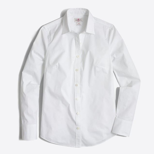 A fitted white blouse is a necessity for me. It looks so classy with a light sweater and jeans. I normally replace twice per year because #life.