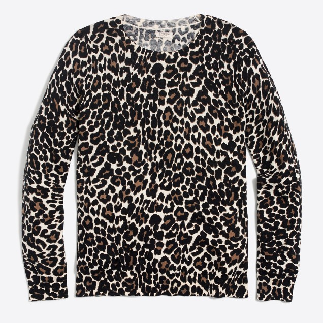 I was lacking leopard, so when I saw this beauty at J Crew I said yes immediately. New for fall and looks so classic with a white blouse underneath.