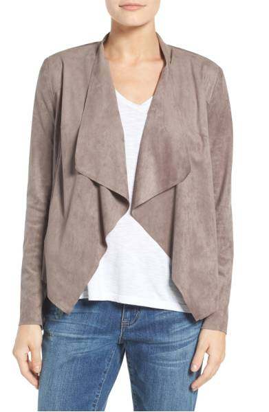 I snagged this for a great deal at Nordstrom rack. A classic camel jacket would be great too, but this one had a modern edge that I just loved. Chic but effortless at the same time.