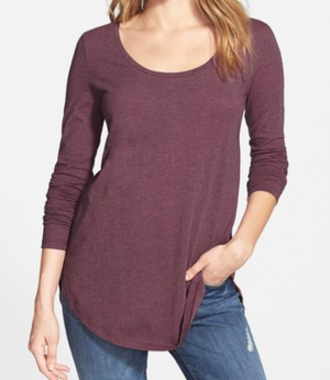 I have this top (Nordstrom BP Brand)and two more which I got at TJ Maxx Willi Smith brand. I love the TJ Maxx ones because they are SO soft!