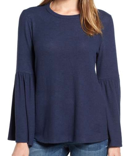 This top is super soft and flattering.