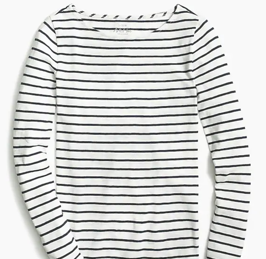I love the neckline of this artist tee. Stripes are classic.