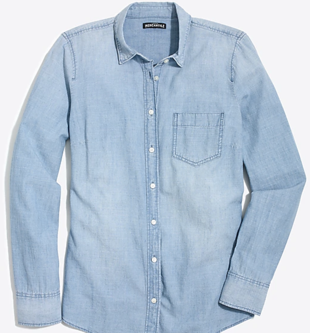 My last chambray shirt got a hole in the elbow I wore it so much!