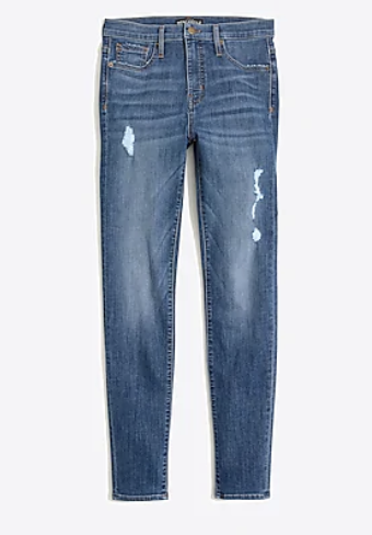 I was craving a distressed denim and these from J Crew Factory fit like a glove.