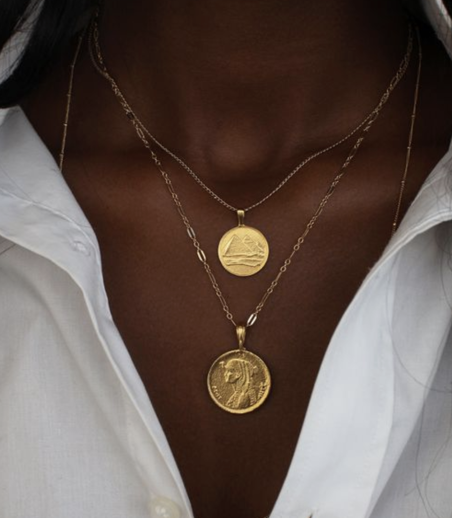 I love stacked necklaces and I've got this on my Christmas wish list. I have a vintage coin necklace that I'm going to get a new chain for and wear this fall.
