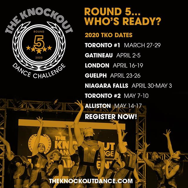 WHO'S READY FOR TKO ROUND 5? CHECK OUT OUR 2020 DATES! OUR BIGGEST SEASON YET! #tko2020 #season5 🥊🥊🥊 Contact us for more info! Info@theknockoutdance.com