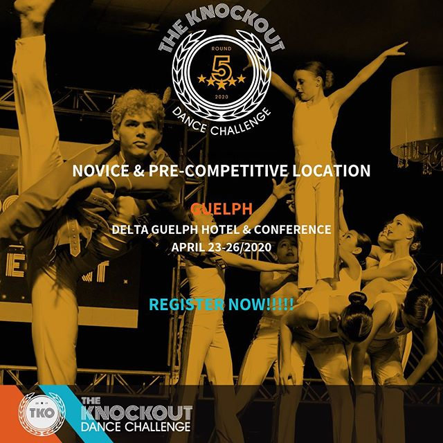 WE ARE EXCITED TO BE HOSTING OUR VERY FIRST EVENT FOR NOVICE & PRE-COMPETITIVE DANCERS THIS COMING YEAR AT TKO 2020 🤗 TONS OF OVERALL AWARDS, SCHOLARSHIPS, CASH PRIZES AND OF COURSE OUR EXCITING MAIN EVENT TO FINISH OFF OUR WEEKEND. CONTACT US NOW FOR MORE INFORMATION! ROUND 5 HERE WE COME 🥊🥊🥊 #tko2020 #tkoround5 #tkoguelph