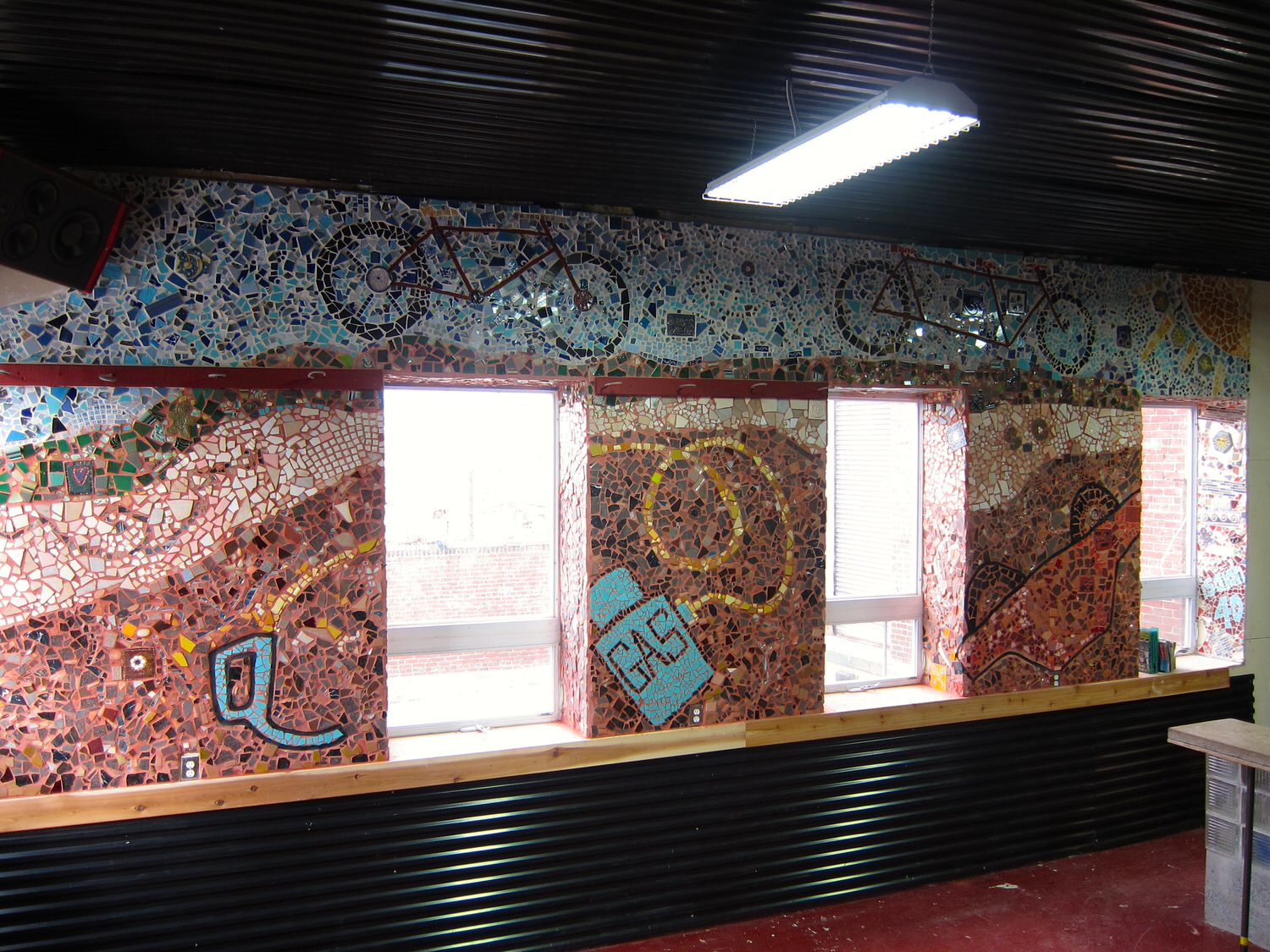 View of finalized mosaic