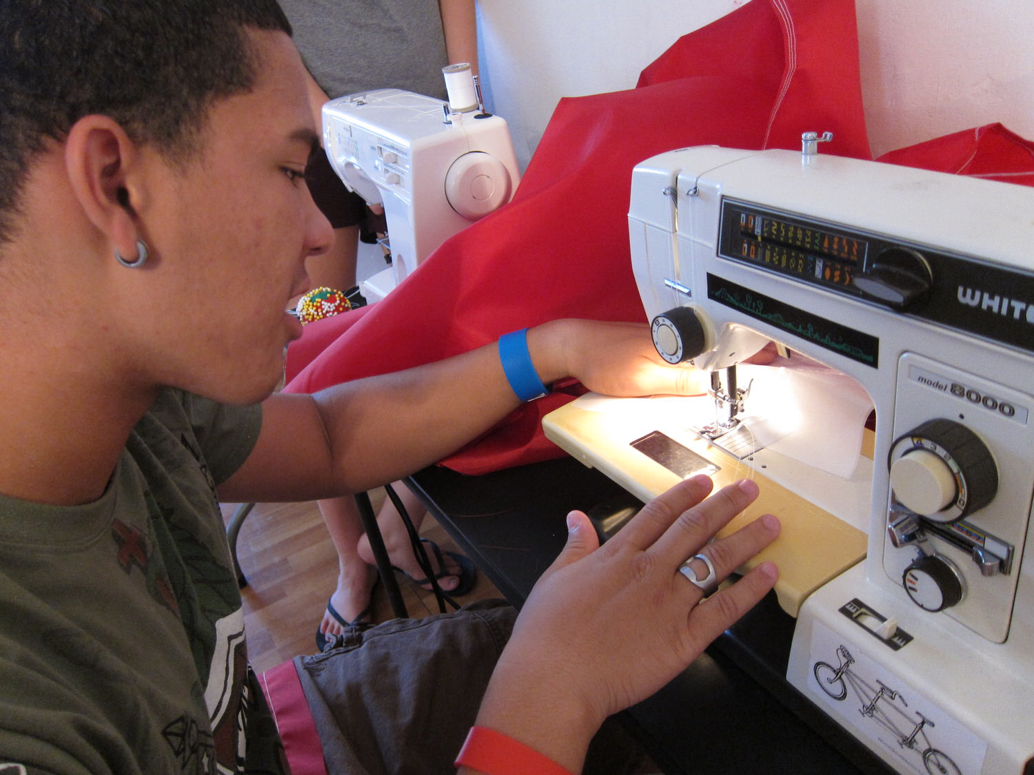 Learning to Sew - Anthony