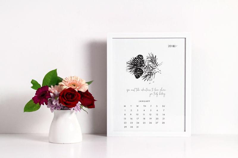 January Desk Printable Calendar