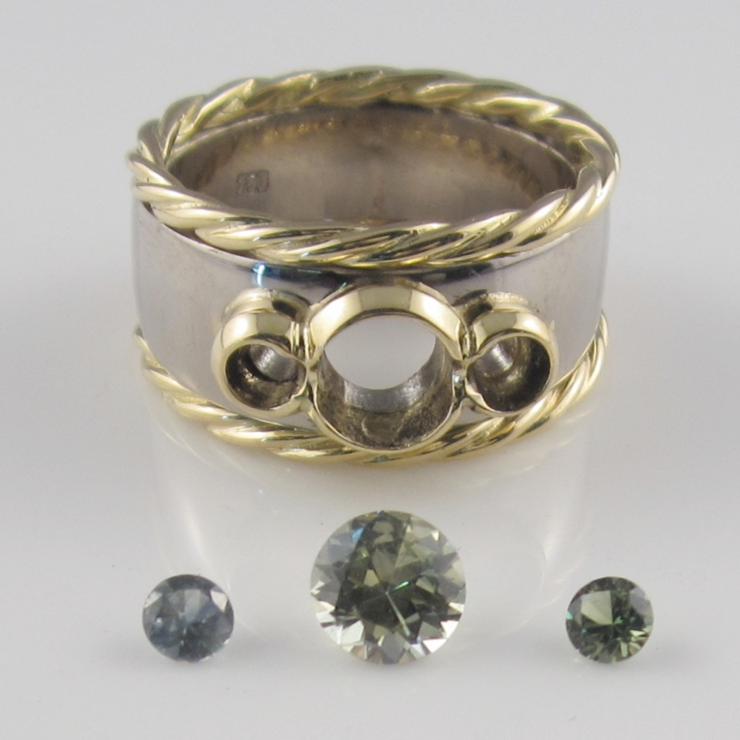 A handmade ring ready to be sent to the engraver and then the setter.