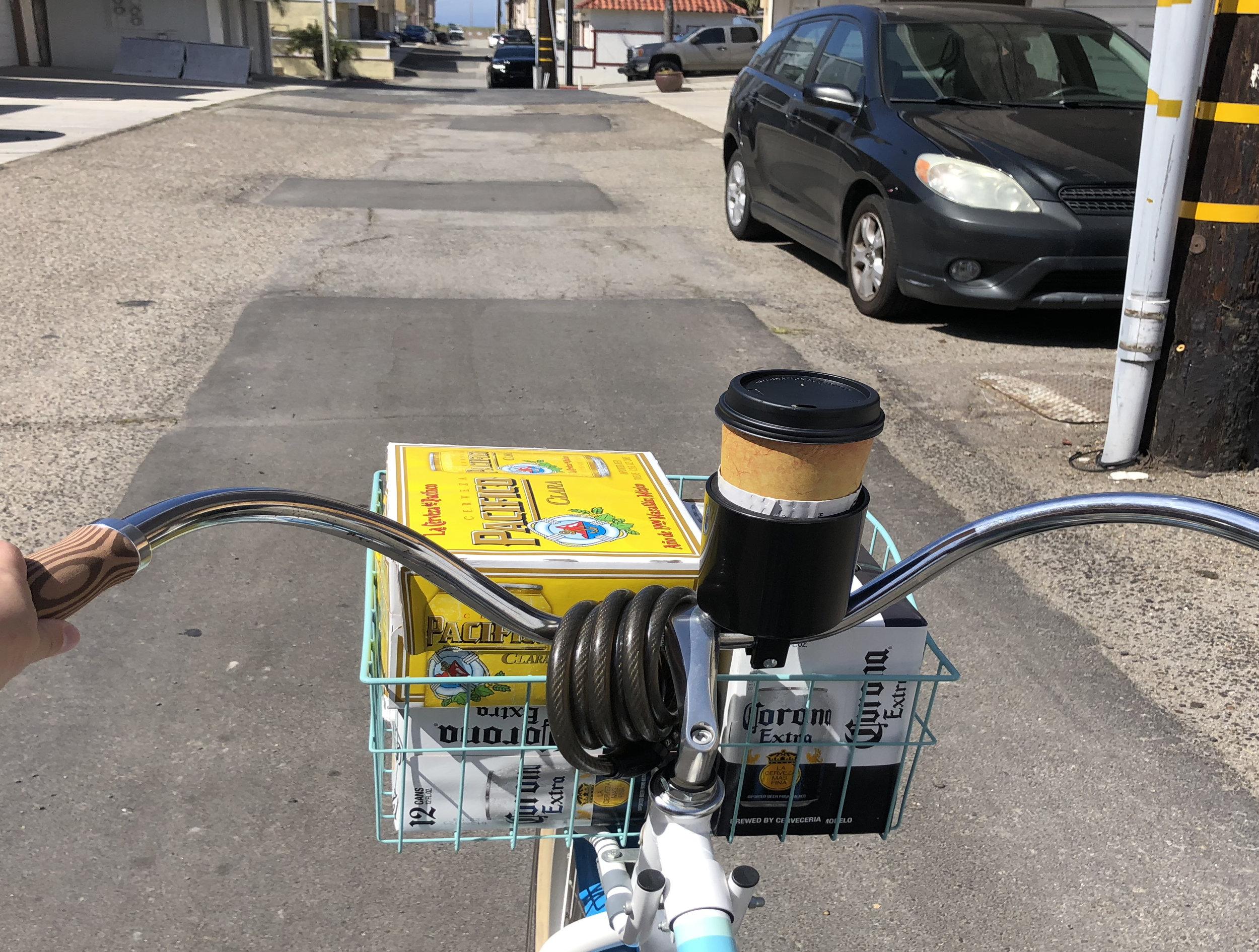 bike basket beer
