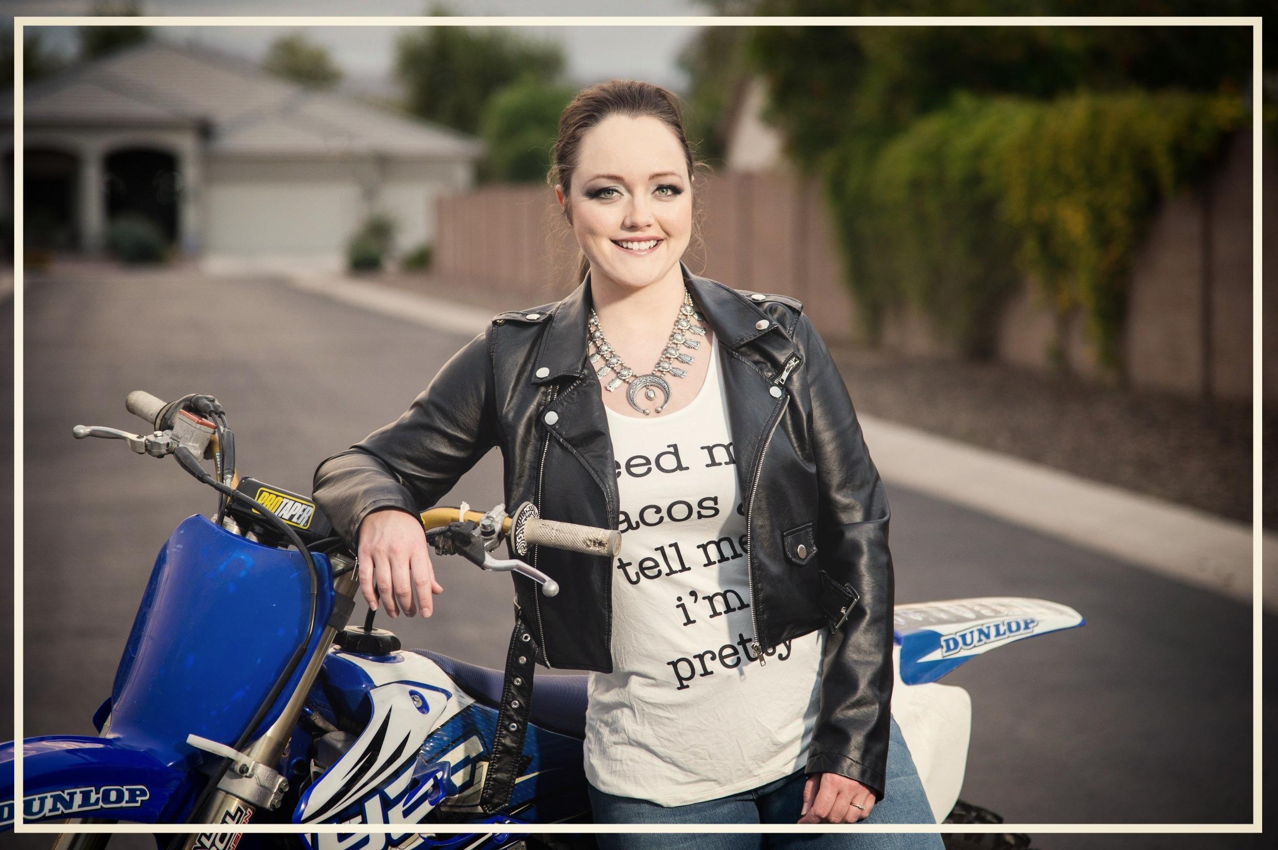 author samantha eklund dirt bike