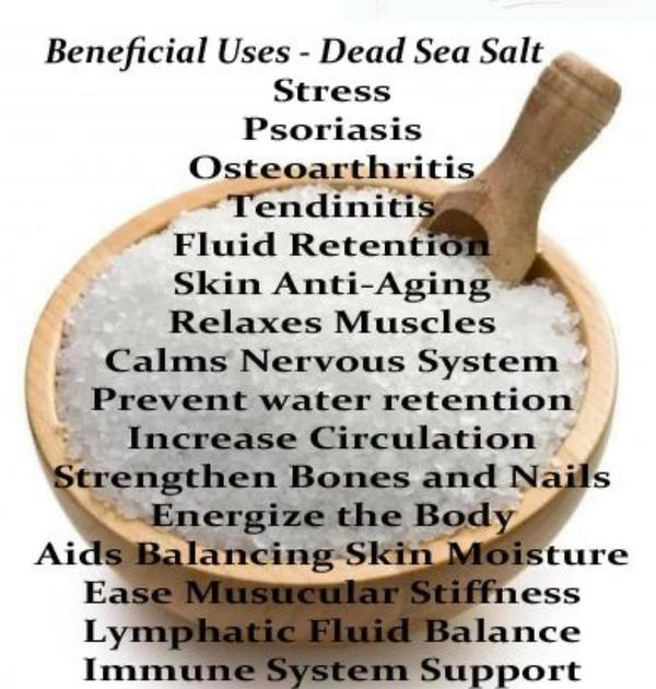 Dead Sea salt has been used for thousands of years for supporting our health and beauty!
