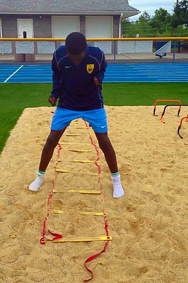 Timothy Weah Training on sand at Tiluchi Elite back in 2013