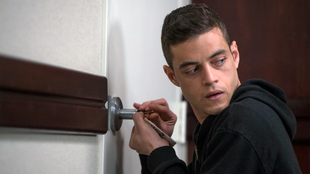 Rami Malek as Elliot Alderson (Photo credit: David Giesbrecht/USA Network)