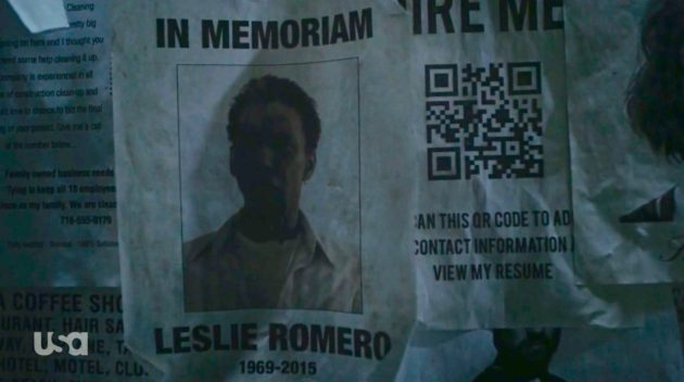 Try following this QR code. (USA Network)