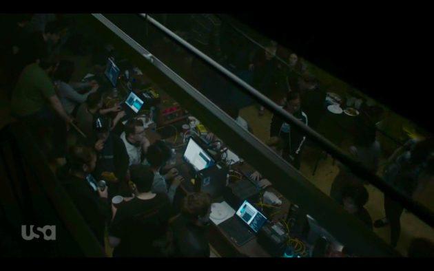 Underground hacker hangout for DEF CON 21 CTF.  (USA Network)