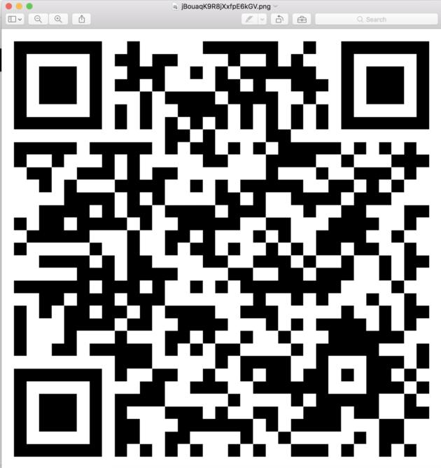 Figure 10: Hidden QR code in Elliot's email.  (USA Network)