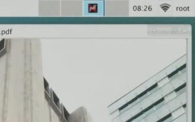 Figure 7: Tyrell loads his desktop as root. DO NOT DO!  (USA Network)