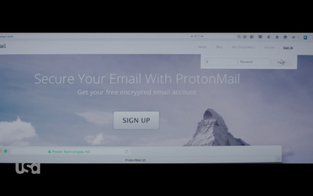 Figure 3: ProtonMail, a super secure email option.  (USA Network)