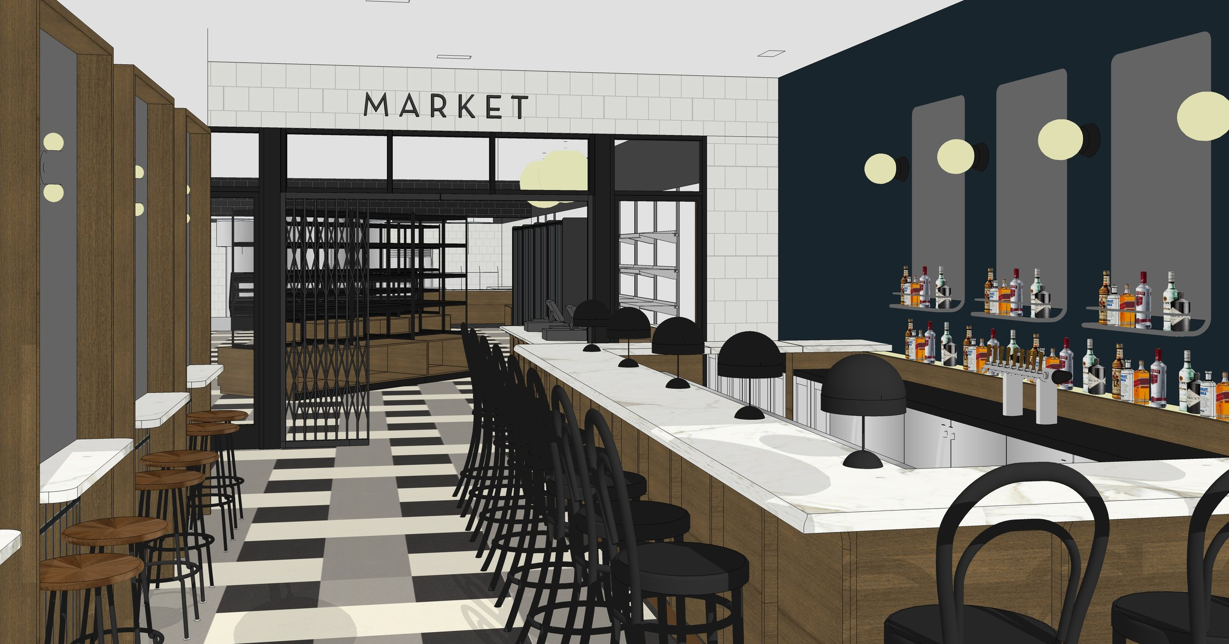 A rendering of the bar area at Eatóri via Kyle Evans
