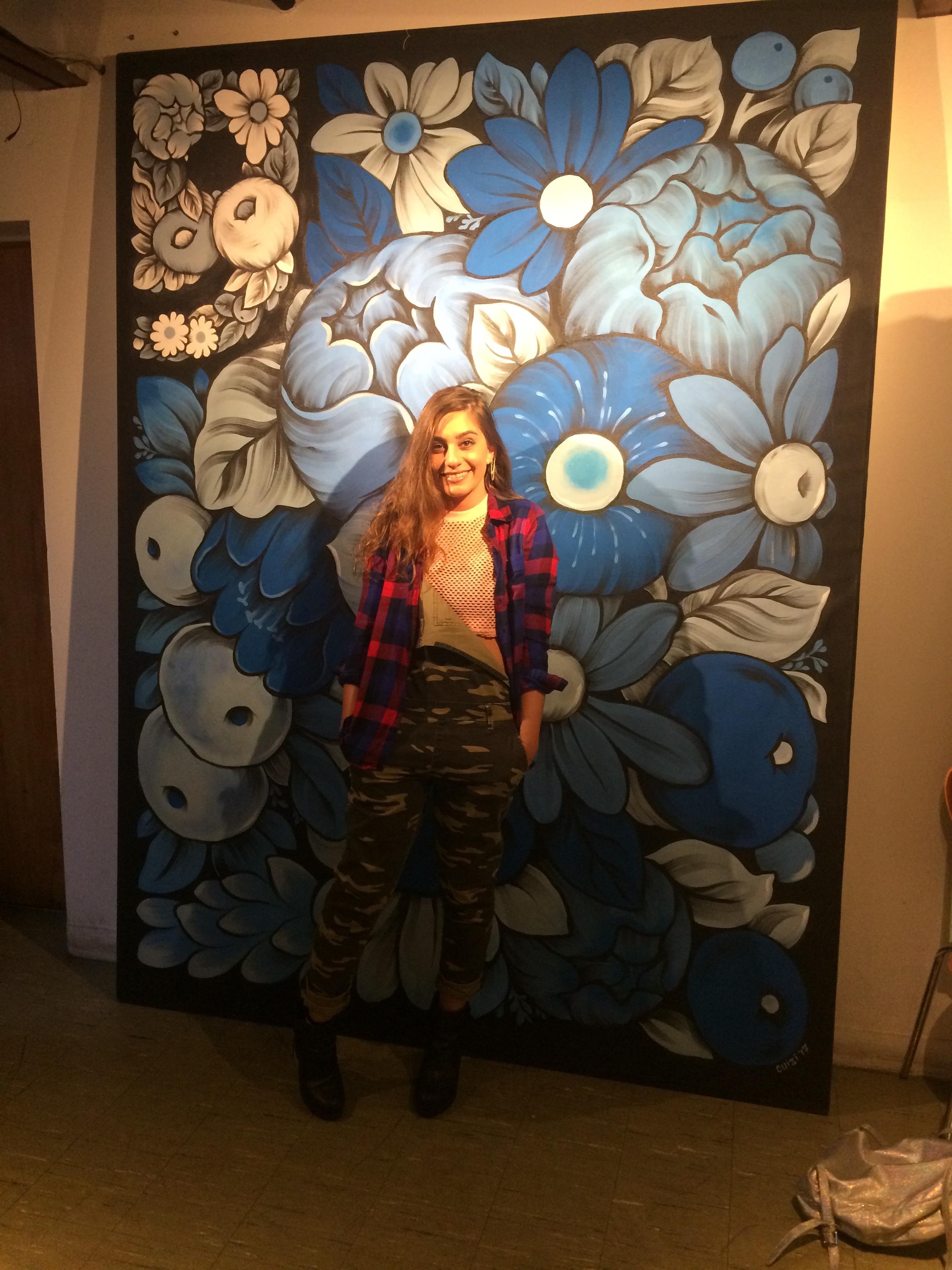 Sam Barba Modeling Her New Flannel