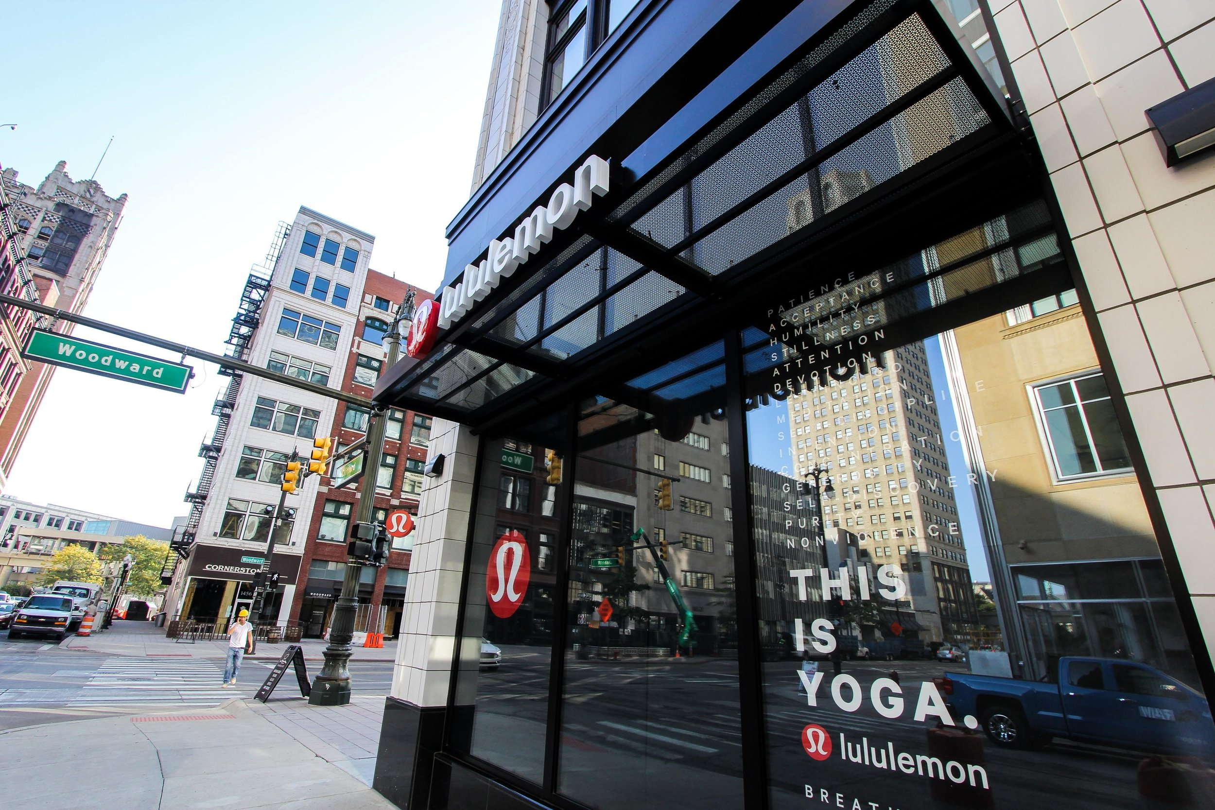 Woodward street view of new shop. Photo by @lululemon.