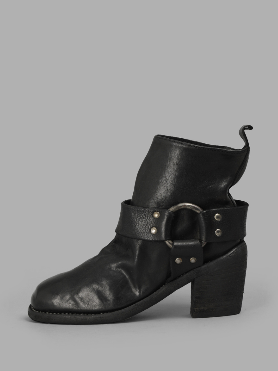 GUIDI black soft horse leather boots