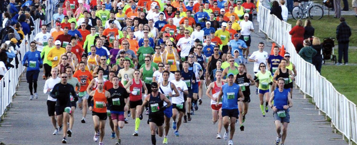 Detroit Free Press Marathon runners via Detroit Free Press