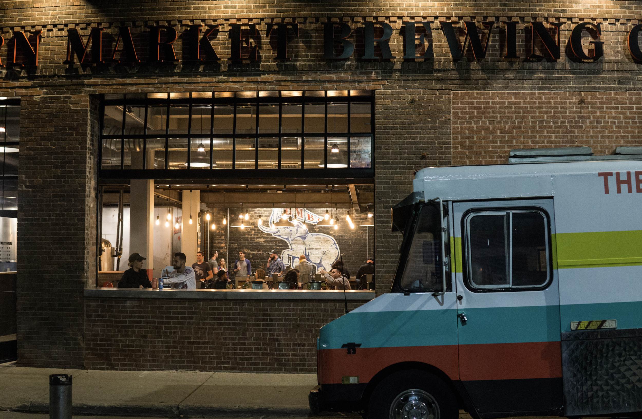 Front of EMBC with food truck