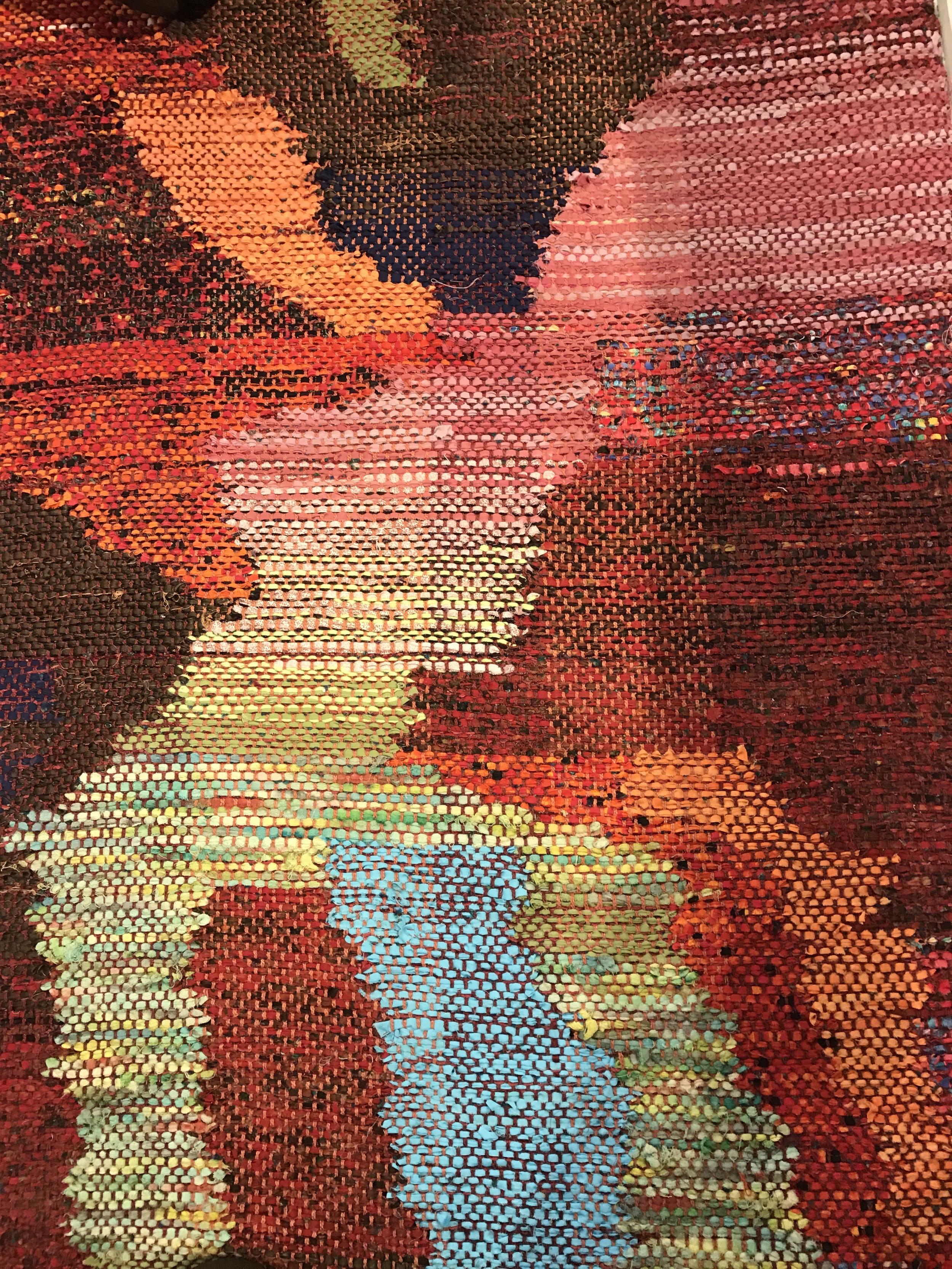 Detail of Cienfuegos Rug by Paula Schubatis