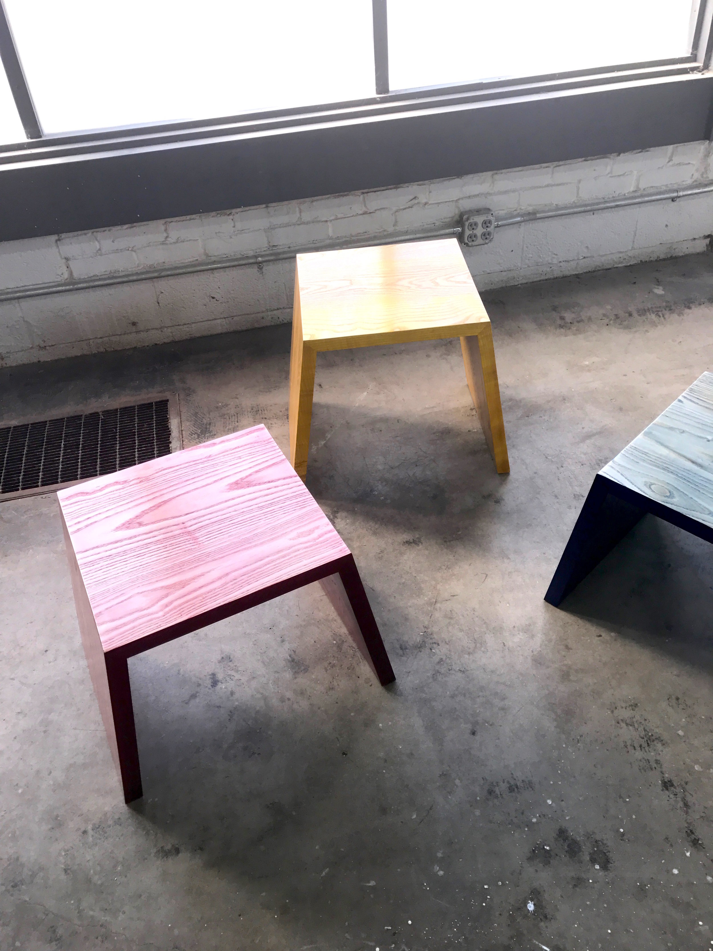 Faded Series Stools and Side Tables by DuBois Collection