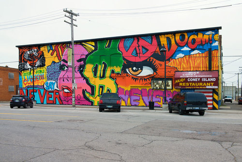 Photo of Denial's Eastern Market Mural on Russell Street courtesy of  Murals in the Market