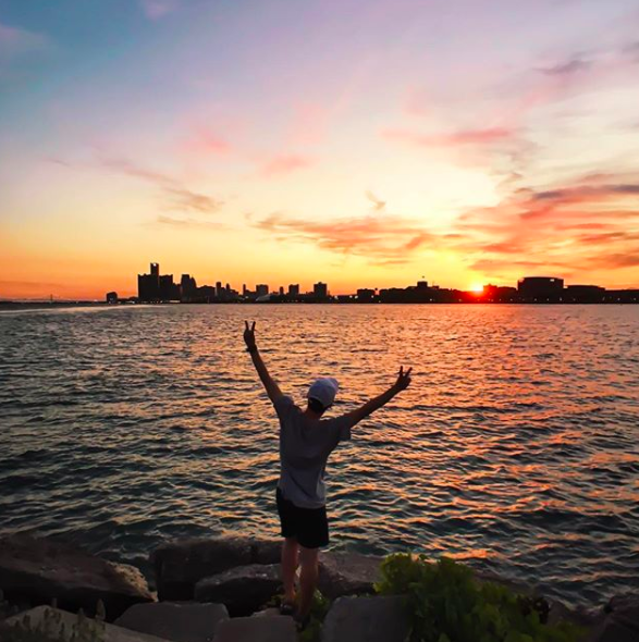 View from Belle Isle via @seoung
