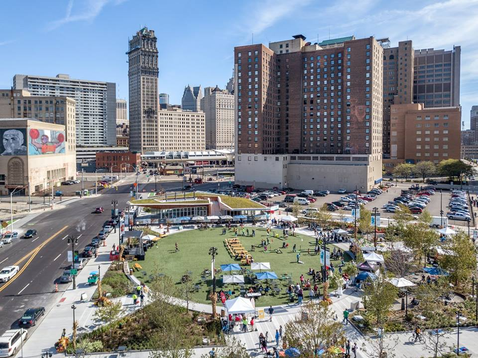 A sunny view of Beacon Park, located on Detroit's west side. Photo via @beaconparkdetroit on Facebook
