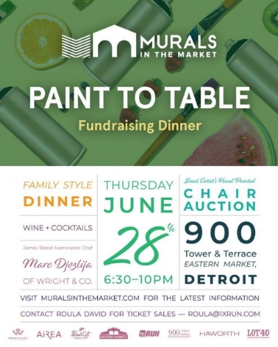 Promotional poster for one of our favorite and innovative Detroit events. Photo via  @muralsinthemarket  on Facebook