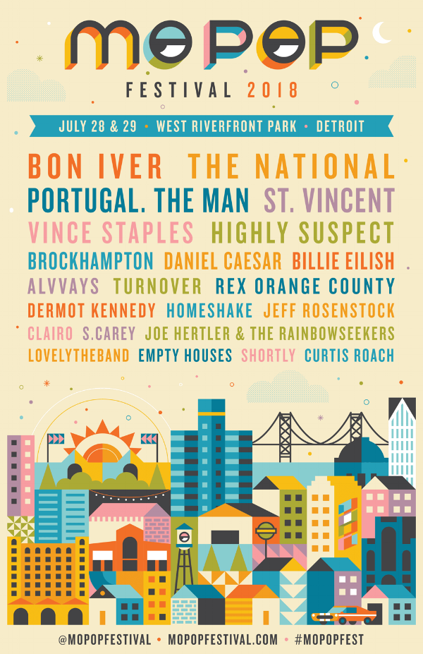 The full lineup of this year's MO POP festival. Image via  MO POP