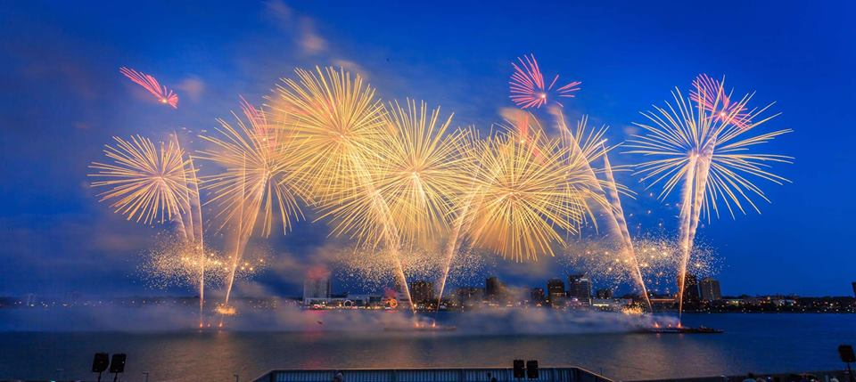 Lights, camera, lots of fireworks. Photo via  Visit Detroit  on Facebook